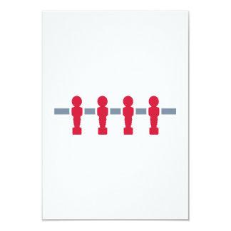 Foosball 3.5x5 Paper Invitation Card