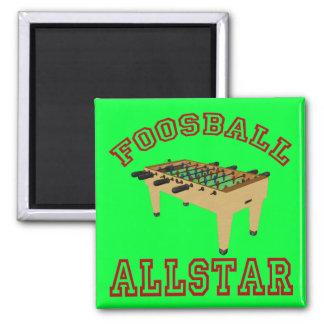 Foosball Allstar 2 Inch Square Magnet