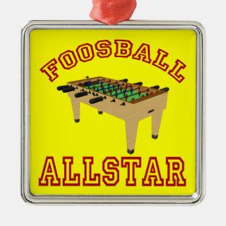 Foosball Allstar Metal Ornament