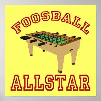 Foosball Allstar Poster