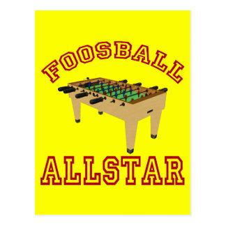 Foosball Allstar Tarjeta Postal