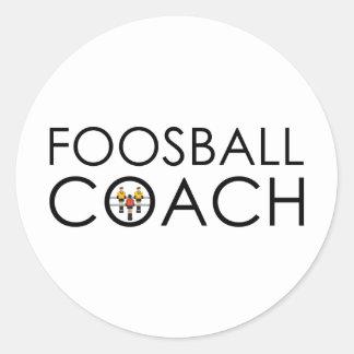 Foosball Coach Classic Round Sticker
