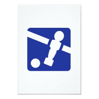 Foosball icon 3.5x5 paper invitation card