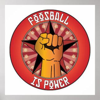 Foosball Is Power Posters