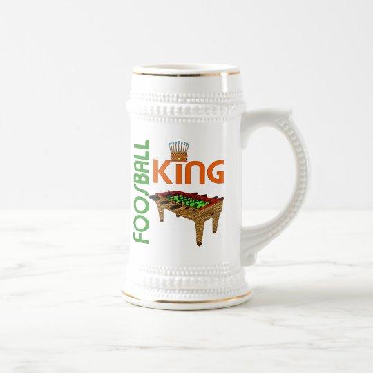 Foosball King Beer Stein