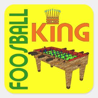 Foosball King Square Sticker