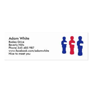 Foosball Mini Business Card