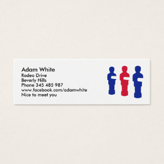 Foosball Mini Business Card