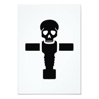 Foosball skull 3.5x5 paper invitation card