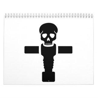 Foosball skull calendar