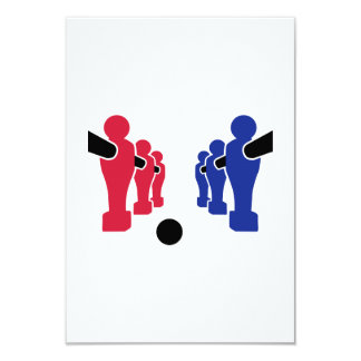 Foosball team 3.5x5 paper invitation card