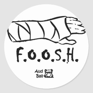 FOOSH = fell on outstretched hand Classic Round Sticker