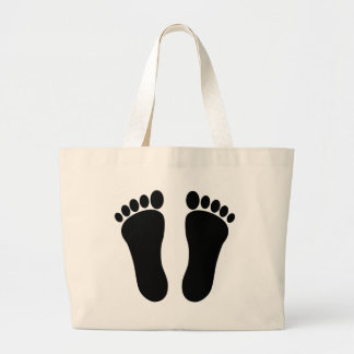 Foot_001_Print_Two_Vector_Clipart Canvas Bags