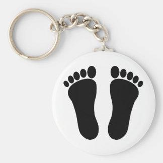 Foot_001_Print_Two_Vector_Clipart Llavero Redondo Tipo Pin