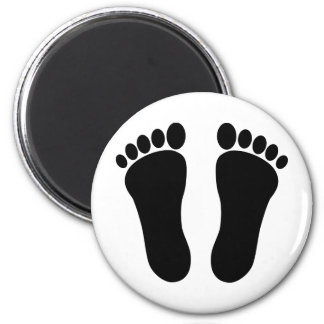Foot_001_Print_Two_Vector_Clipart Refrigerator Magnet