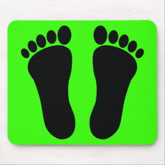 Foot_001_Print_Two_Vector_Clipart Mouse Pads