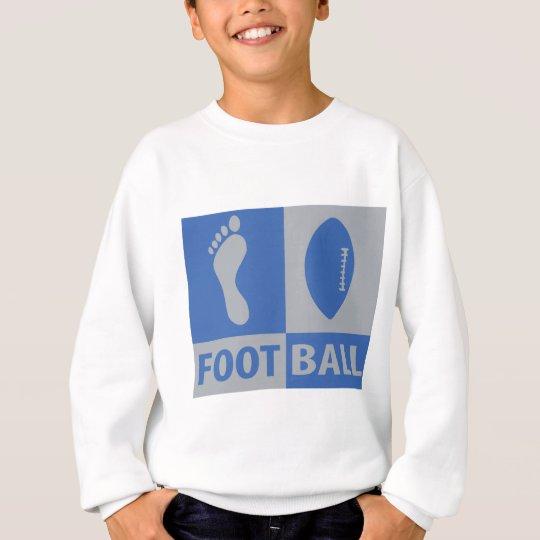 foot ball icon sweatshirt