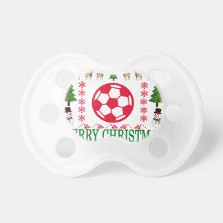 FOOT BALL MERRY CHRISTMAS . PACIFIER