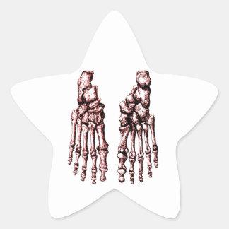 Foot bones. star sticker