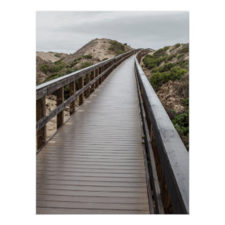 Foot Bridge at Oso Flaco Lake State Park Poster