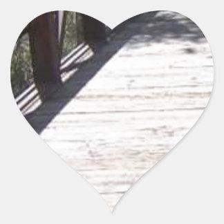 Foot Bridge Heart Sticker