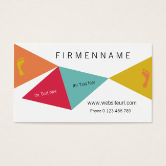 Foot care business card