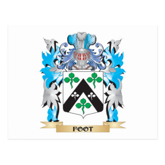 Foot Coat of Arms - Family Crest Postcards