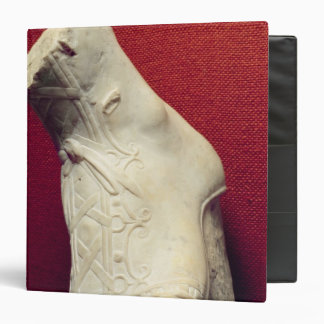 Foot from a statue 3 ring binder