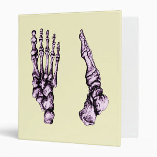 Foot Front & Side Purple 3 Ring Binder
