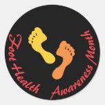 Foot Health Awareness Month Sticker Stickers
