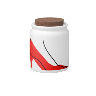 Foot In A Red Shoe Candy Jar