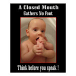 Foot in Mouth Funny  Poster