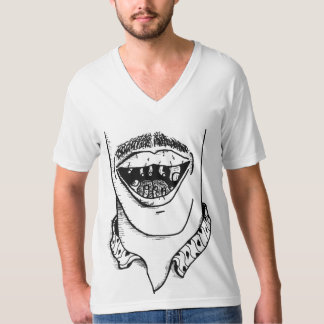 Foot in Mouth V-Neck T-Shirt