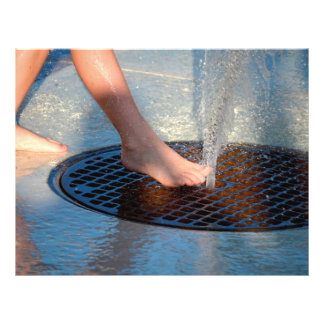 foot in water fountain full color flyer