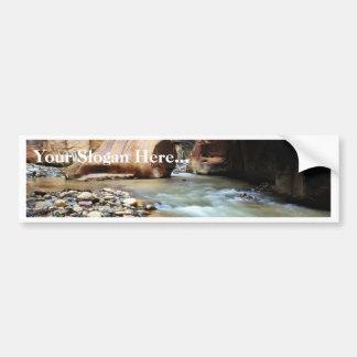 Foot Like Rock In Zion Narrows Bumper Stickers