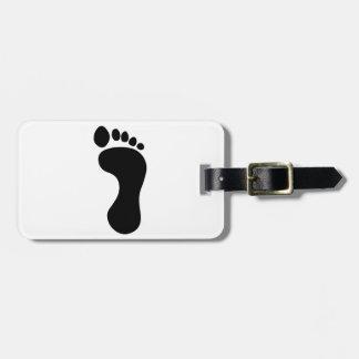 Foot Travel Bag Tags