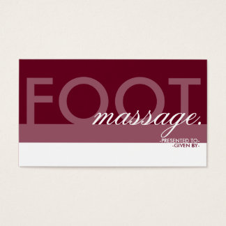 FOOT MASSAGE gift card overlay