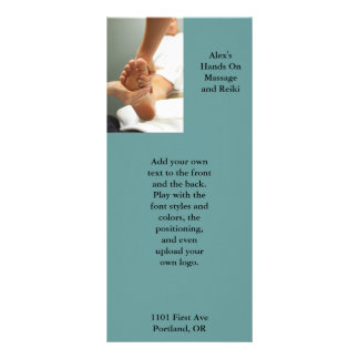 Foot Massage Photo Full Color Rack Card