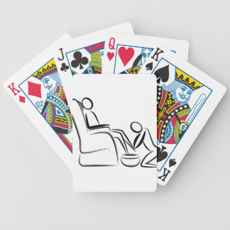 Foot Massage Stick Figure Bicycle Playing Cards