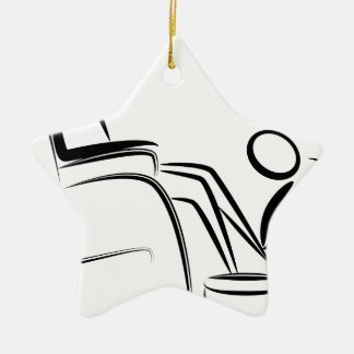 Foot Massage Stick Figure Ceramic Ornament