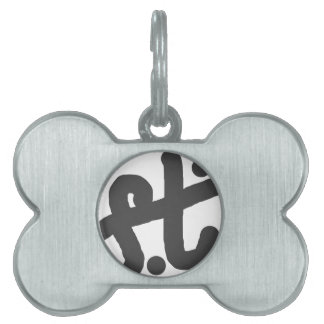 foot of the cross pet ID tag