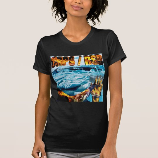 Foot on Glacier & Slogan T-Shirt