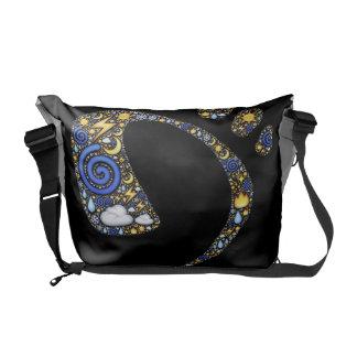 Foot Print Design Messenger Bag