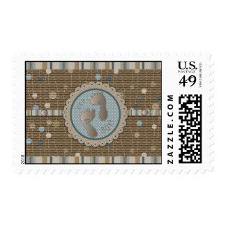 Foot Prints Boy Stamp