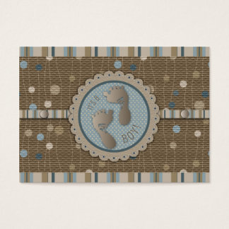 Foot Prints Boy Thank You Note Business Card