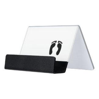 Foot Prints Desk Business Card Holder