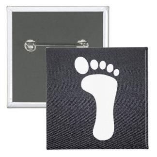Foot Prints Icon 2 Inch Square Button