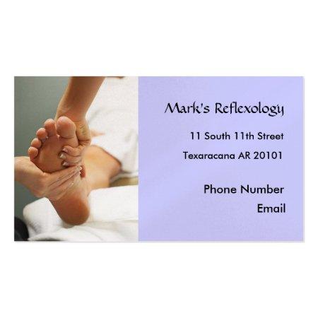 Foot Massage Refloxology Business Cards