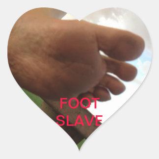 FOOT SLAVE HEART STICKER