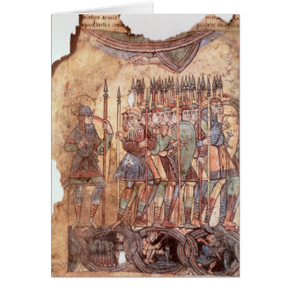 Foot Soldiers in the Crusades Card
